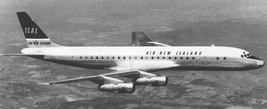 History DC8 over California