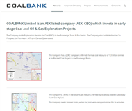 COALBANK Limited Website Link