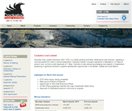 Cockatoo Coal Limited Website Link