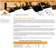 Comet Ridge Limited Website Link