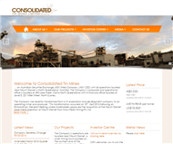 Consolidated Tin Mines Limited Website Link