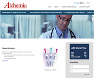 Alchemia Limited Website Link