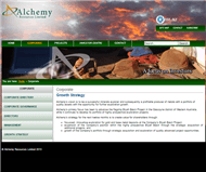 Alchemy Resources Limited Website Link