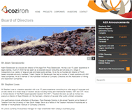 Coziron Resources Limited Website Link