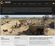 Credo Resources Limited Website Link