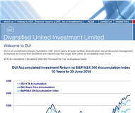 Diversified United Investment Limited Website Link