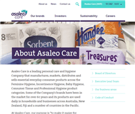 Asaleo Care Limited Website Link