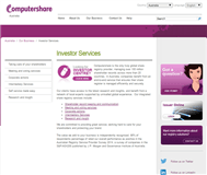 Computershare Investor Services Pty Limited Website Link