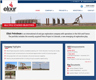 Elixir Petroleum Limited Website Link