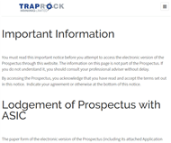 Traprock Mining Limited Website Link
