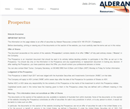 Alderan Resources Limited Website Link
