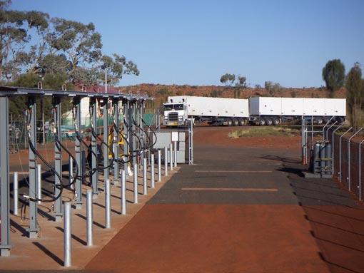 Yulara CNG unloading facility