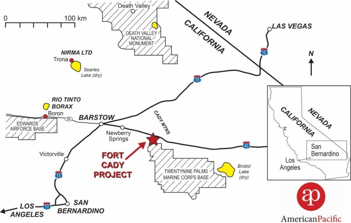 Location of Fort Cady Project in California, USA