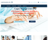 Cape Range Ltd Website Link