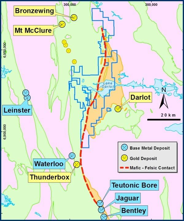 Darlot Project Tenement & Geology