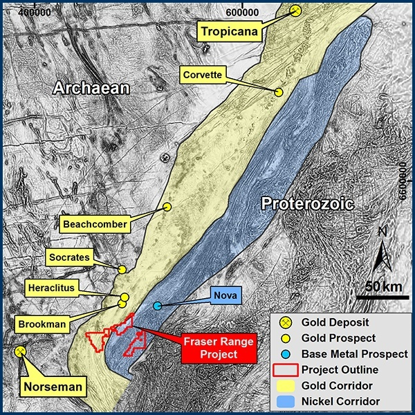 Fraser Range Project Map