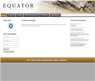 Equator Resources Ltd Website Link