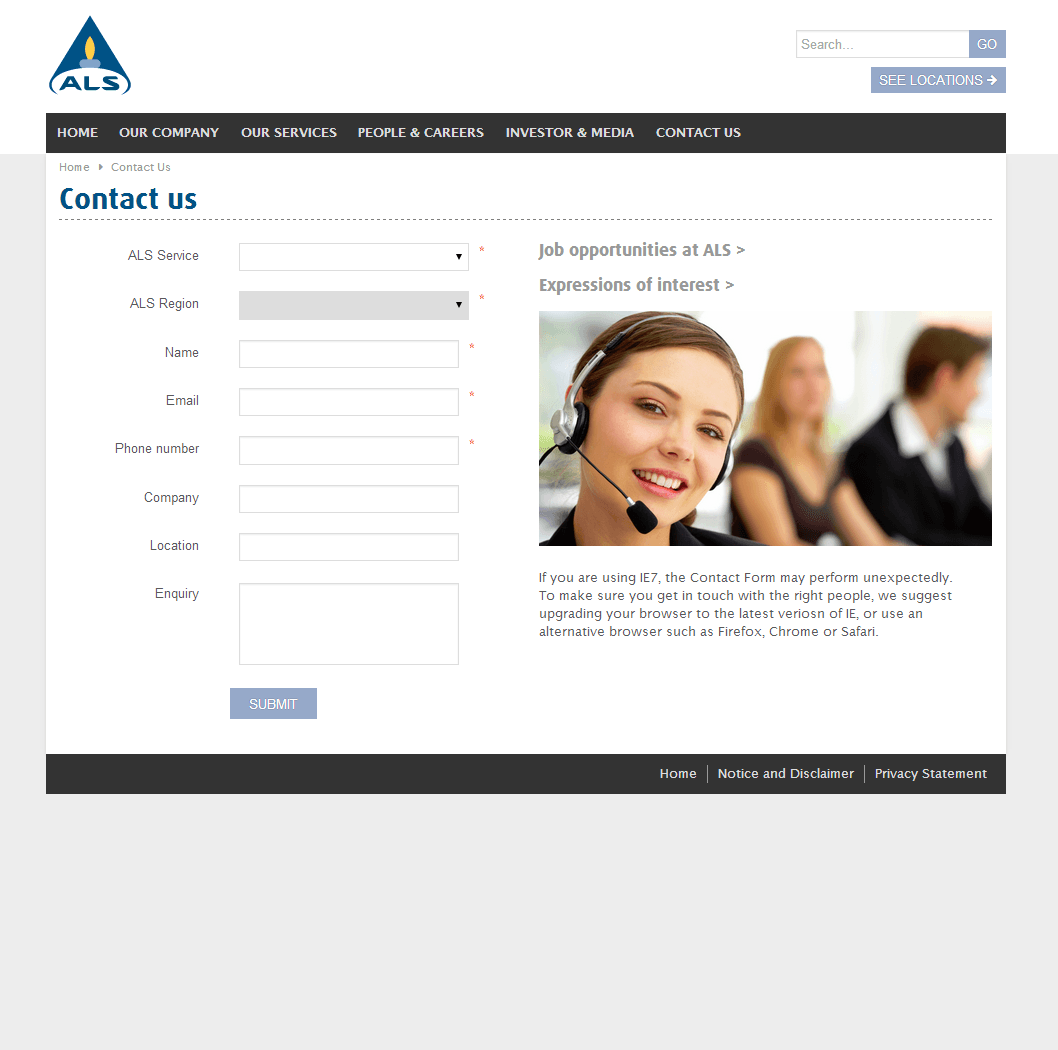 ALS Limited Website Link