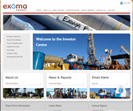 Exoma Energy Limited Website Link