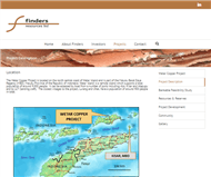 Finders Resources Limited Website Link