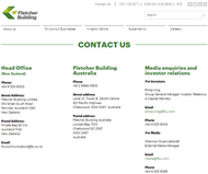 Fletcher Building Limited Website Link