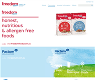 Freedom Foods Group Limited Website Link