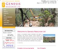 Genesis Resources Limited Website Link