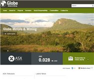 Globe Metals & Mining Limited Website Link