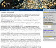 Golden Cross Resources Limited Website Link