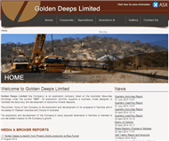 Golden Deeps Limited Website Link