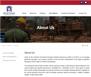 Mustang Resources Limited Website Link