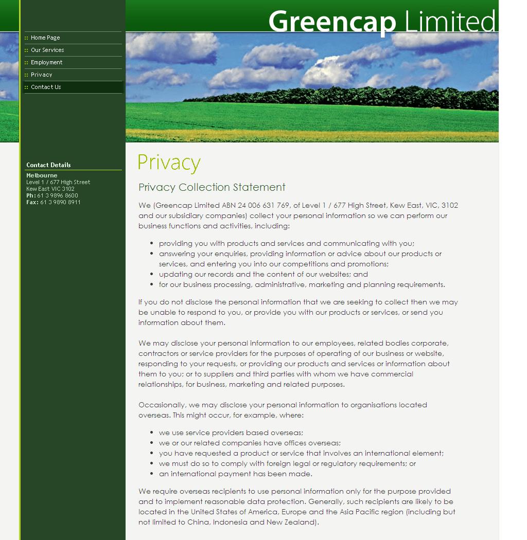 GREENCAP LTD Website Link