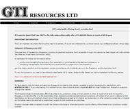 GTI Resources Limited Website Link