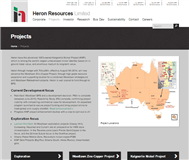 Heron Resources Limited Website Link