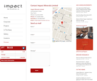 Impact Minerals Limited Website Link