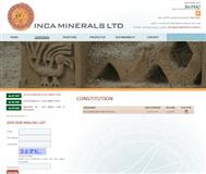 Inca Minerals Limited Website Link