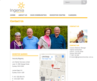 Ingenia Communities Group Website Link